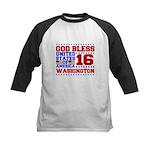 We Love 2 Hike Kids Baseball Jersey