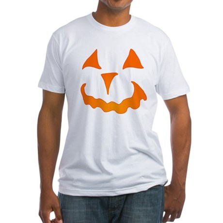 Pumpkin Face Fitted T-Shirt