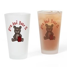 Grin And Bear It Drinking Glass