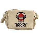 Sock Monkeys Rock Messenger Bag