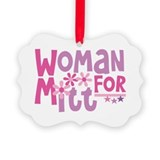 Woman FOR Romney Picture Ornament