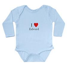 i love Edward Long Sleeve Infant Bodysuit