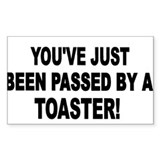 TOASTER-BLACK Oval Decal