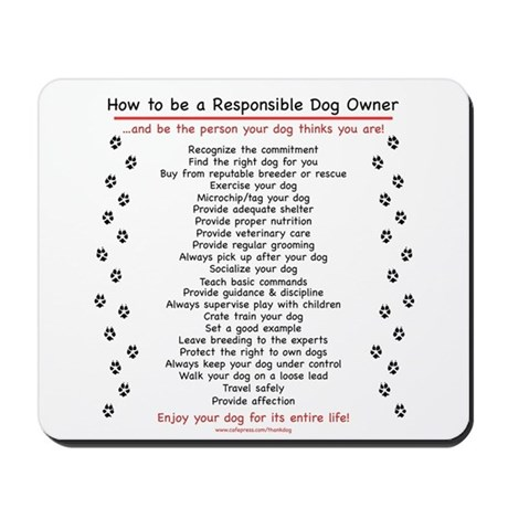 Responsible Dog Owner Mousepad