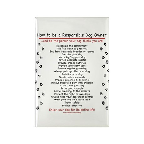 Responsible Dog Owner Rectangle Magnet