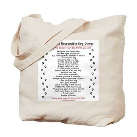Responsible Dog Owner Tote Bag