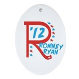 Patriotic Romney Ryan Ornament (Oval)