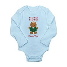 Personalize Gingerbread Baby [elf] Long Sleeve Inf