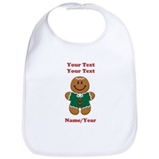 Personalize Gingerbread Baby [elf] Bib