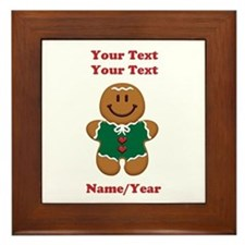 Personalize Gingerbread Baby [elf] Framed Tile