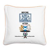 Crests Square Canvas Pillow