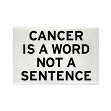 Cancer Word Rectangle Magnet