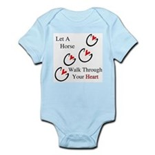 Horse Hoof Hearts Infant Bodysuit