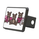 Bear Triplets Rectangular Hitch Cover