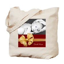Golden Bow/ Photo Tote Bag