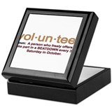 Volunteer definition Keepsake Box