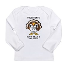 Custom Turkey Bowl Long Sleeve Infant T-Shirt