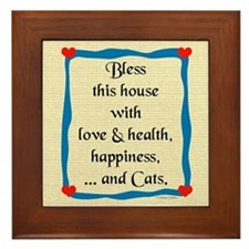 Bless This House Framed Tile