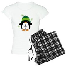 Music Gift Christmas Penguin Pajamas