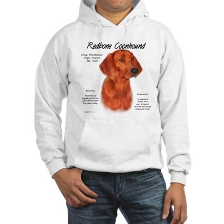 Redbone Coonhound Hooded Sweatshirt