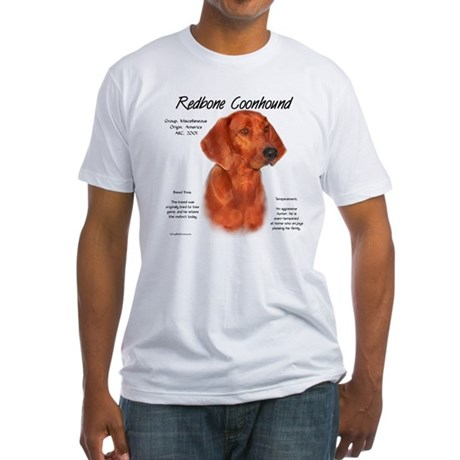 Redbone Coonhound Fitted T-Shirt