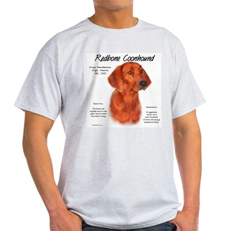 Redbone Coonhound Ash Grey T-Shirt