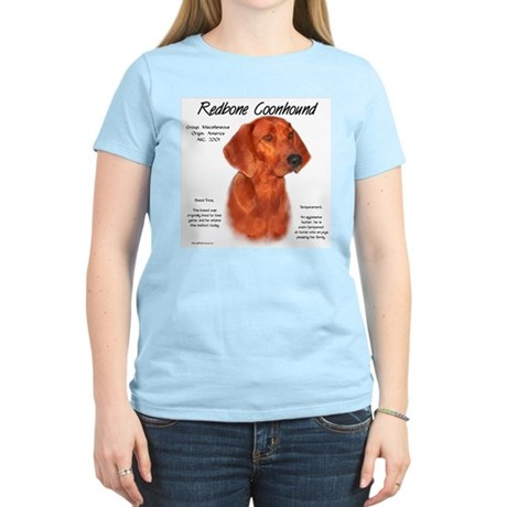 Redbone Coonhound Women's Pink T-Shirt