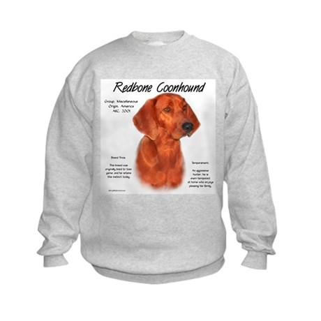 Redbone Coonhound Kids Sweatshirt