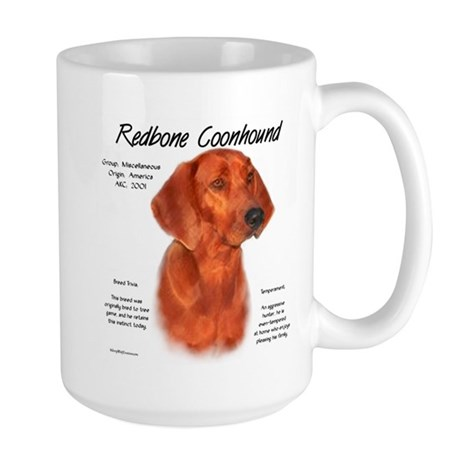 Redbone Coonhound Large Mug