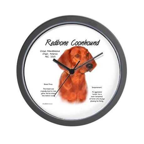 Redbone Coonhound Wall Clock