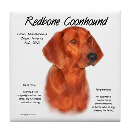 Redbone Coonhound Tile Coaster