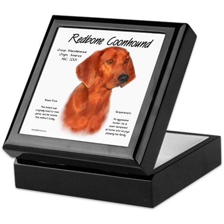 Redbone Coonhound Keepsake Box