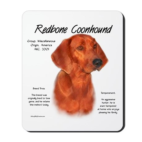 Redbone Coonhound Mousepad