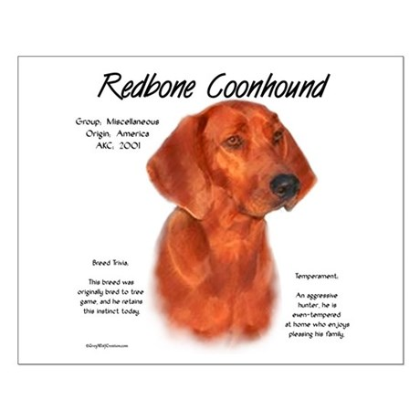 Redbone Coonhound Small Poster