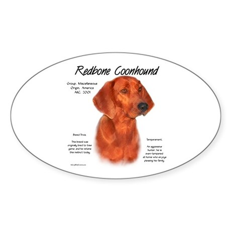 Redbone Coonhound Oval Sticker