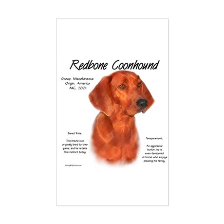 Redbone Coonhound Rectangle Sticker