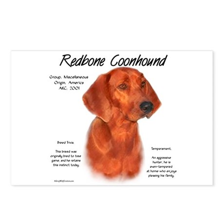 Redbone Coonhound Postcards (Package of 8)