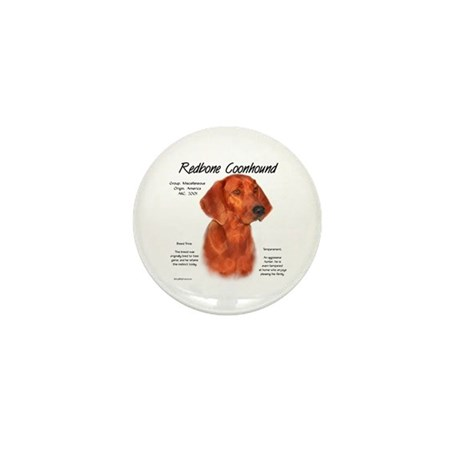 Redbone Coonhound Mini Button