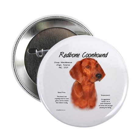Redbone Coonhound Button