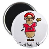 Football Nut (red) Magnet