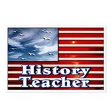 """History Teacher Flag"" Postcards (Package of 8)"