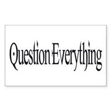 Question Everything Rectangle Decal