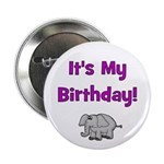 It's My Birthday! Elephant Button