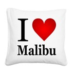 ilovemalibu.png Square Canvas Pillow