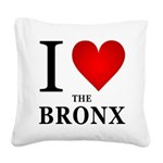 ilovethebronx.png Square Canvas Pillow