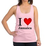 I Love Jamaica Racerback Tank Top