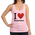 i-love-antartica-light-tee.png Racerback Tank Top