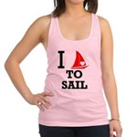 i-love-to-sail.png Racerback Tank Top
