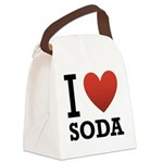 i-love-soda.png Canvas Lunch Bag