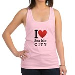 sea isle city rectangle.png Racerback Tank Top